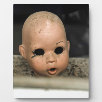 Cry Baby Vintage Doll Head Dirty Window Plaque