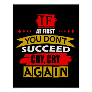 Cry, Cry Again Poster