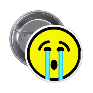 cry cry cry emoticon button
