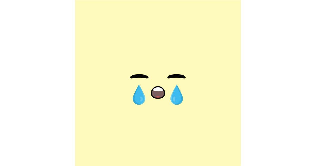Cry emoji fabric zazzle for Emoji material by the yard