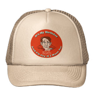 Cry If I Want To 85th Birthday Gifts Trucker Hat