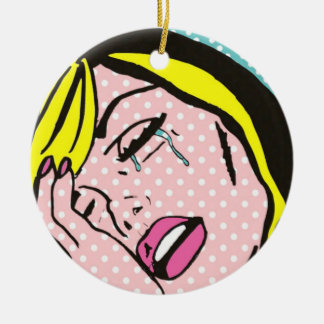 Cry Me a River Pop Art Holiday Ornament