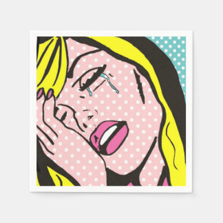 Cry Me a River Pop Art Paper Napkins