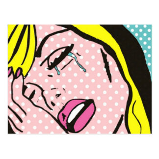 Cry Me a River Pop Art Postcard