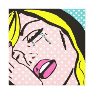 Cry Me a River Pop Art Stretched Canvas