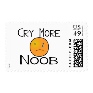 Cry More Noob Postage