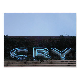 """Cry"" Print"