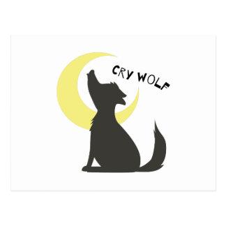 Cry Wolf Postcard