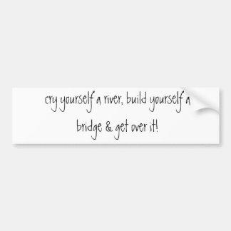 cry yourself a river, build yourself a bridge &... bumper sticker