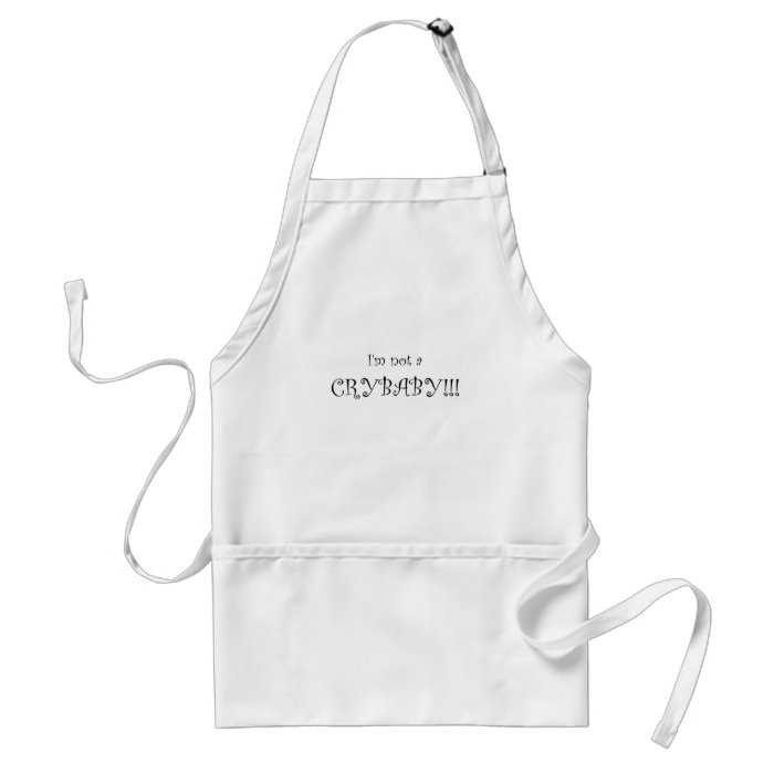 crybaby adult apron
