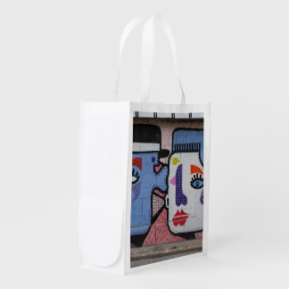 Crying A Little Tear Of Joy Urban Art Reusable Grocery Bag
