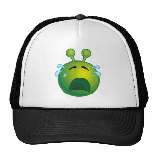 Crying alien mesh hat