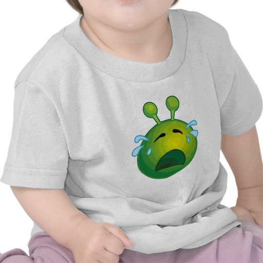 Crying alien t shirt