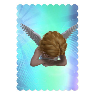 Crying Angel 5x7 Paper Invitation Card