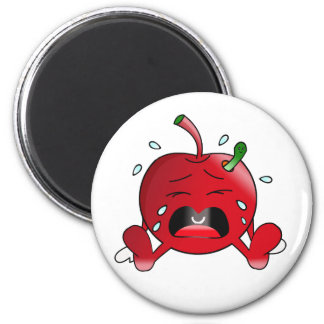 Crying Apple 2 Inch Round Magnet