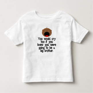 Crying big brother to be. Dark Skin Toddler T-shirt