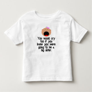 Crying big sister to be. Light Skin Toddler T-shirt