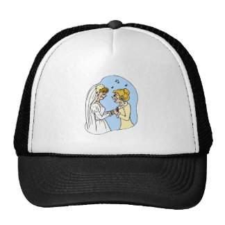 Crying Brides Exchanging Vows Trucker Hat