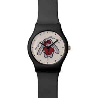 Crying Bunny Rabbit with Broken Heart Watch