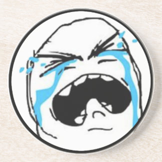 Crying Comic Meme Drink Coaster