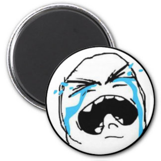 Crying Comic Meme Refrigerator Magnets