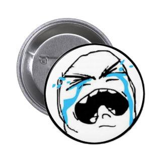 Crying Comic Meme Pinback Button