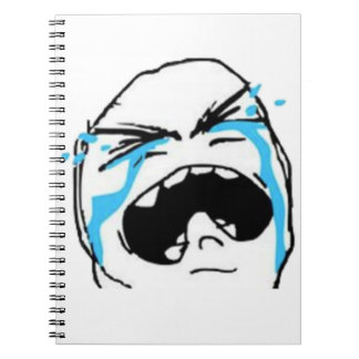 Crying Comic Meme Spiral Notebook