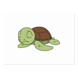 Crying Cute Baby Turtle Tortoise Invitation Stamps Large Business Card