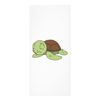 Crying Cute Baby Turtle Tortoise Invitation Stamps Full Color Rack Card