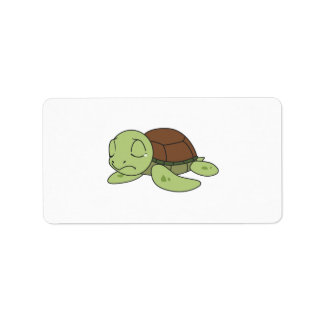 Crying Cute Baby Turtle Tortoise Mug Button Pillow Label