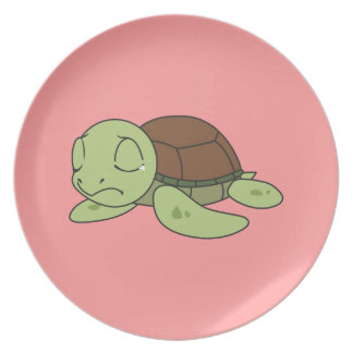 Crying Cute Baby Turtle Tortoise Plate Napkin