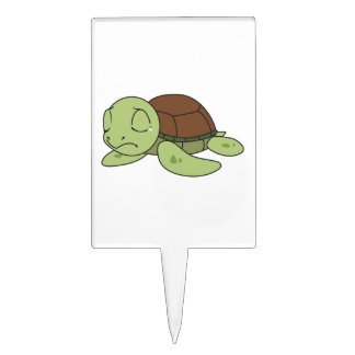 Crying Cute Baby Turtle Tortoise Plate Napkin Cake Topper