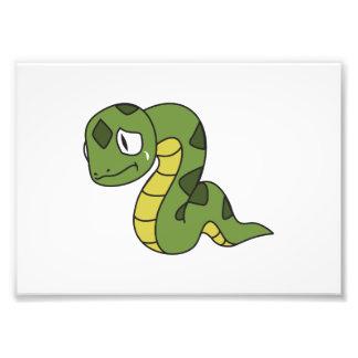 Crying Cute Green Snake Greeting Cards Mugs Pin Photograph