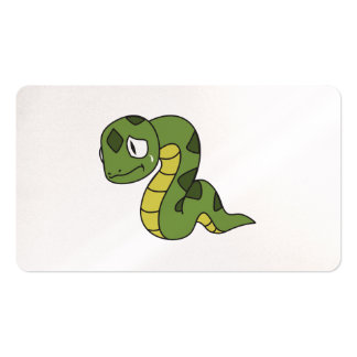 Crying Cute Green Snake Invitation Card Stamps Double-Sided Standard Business Cards (Pack Of 100)