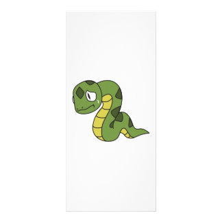 Crying Cute Green Snake Invitation Card Stamps Rack Card Design