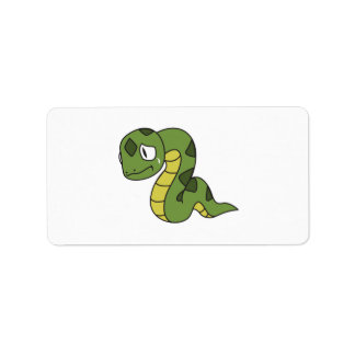 Crying Cute Green Snake Mug Pillow Button Pin Label