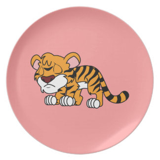 Crying Cute Orange Baby Tiger Cub Apron Napkin Party Plate