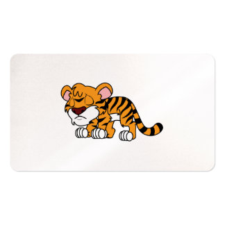 Crying Cute Orange Baby Tiger Cub Business Card