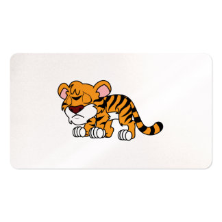 Crying Cute Orange Baby Tiger Cub Greeting Cards Business Card