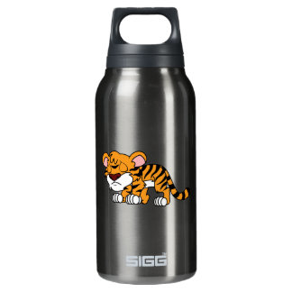 Crying Cute Orange Baby Tiger Cub Greeting Cards Insulated Water Bottle