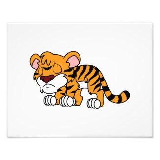 Crying Cute Orange Baby Tiger Cub Greeting Cards Photo