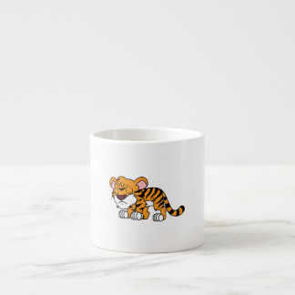 Crying Cute Orange Baby Tiger Cub Greeting Cards Espresso Mugs
