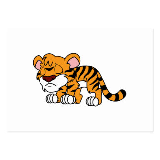 Crying Cute Orange Baby Tiger Cub Large Business Card