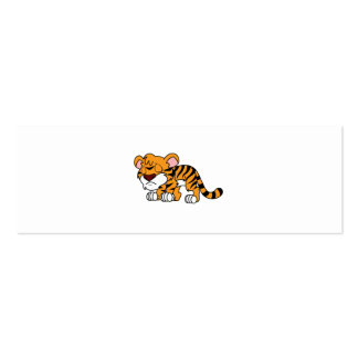 Crying Cute Orange Baby Tiger Cub Mug Pillow Mini Business Card