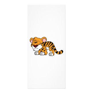 Crying Cute Orange Baby Tiger Cub Custom Rack Card