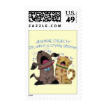 Crying dog and cat crying shame stamps