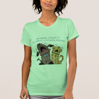 Crying dog and cat crying shame tee shirt