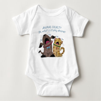 Crying Dog and Cat –What a Crying Shame Baby Bodysuit