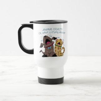 Crying Dog and Cat –What a Crying Shame Travel Mug