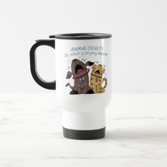 Crying Dog and Cat –What a Crying Shame Travel Mug